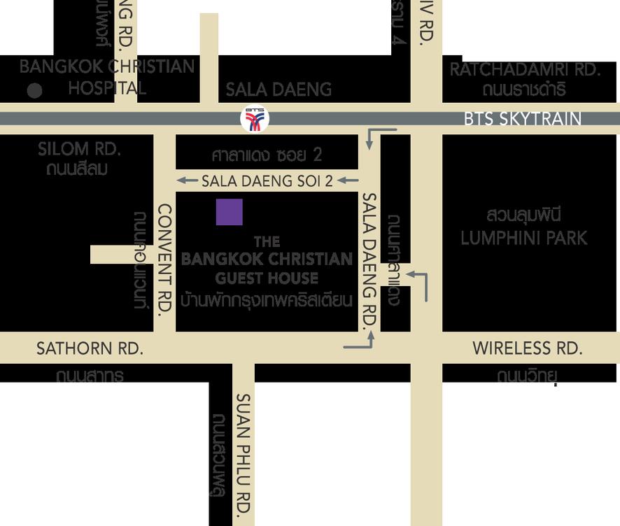 Bangkok Christian map