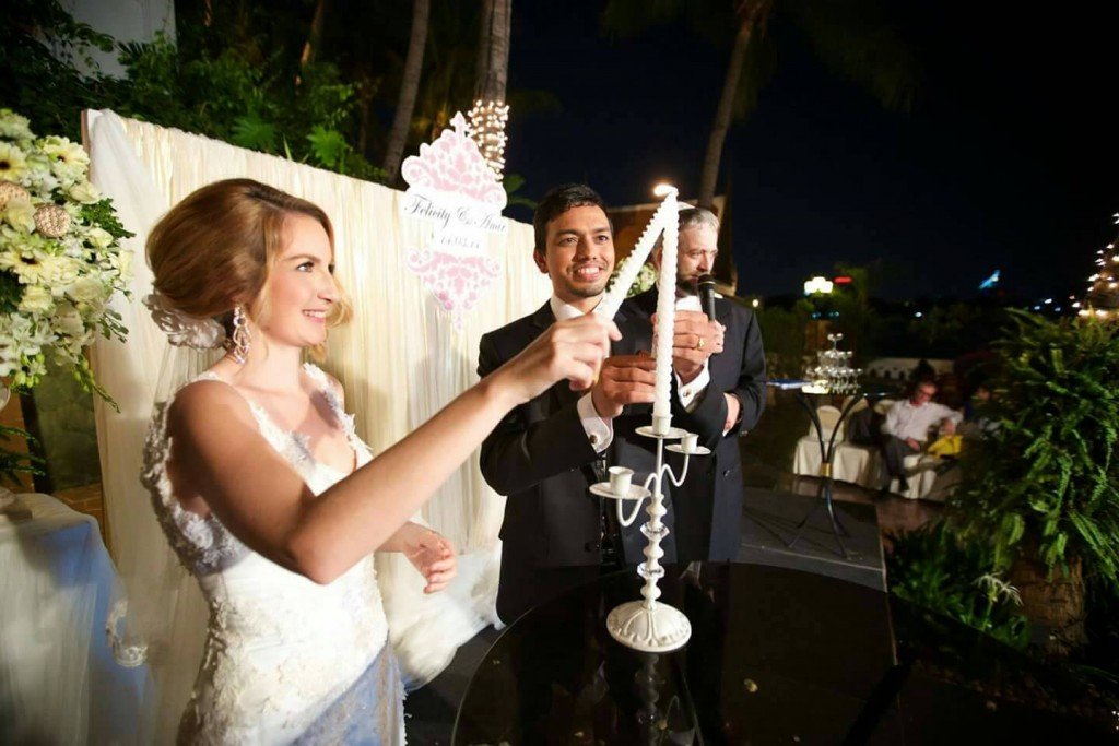 Mark and Felicity's wedding
